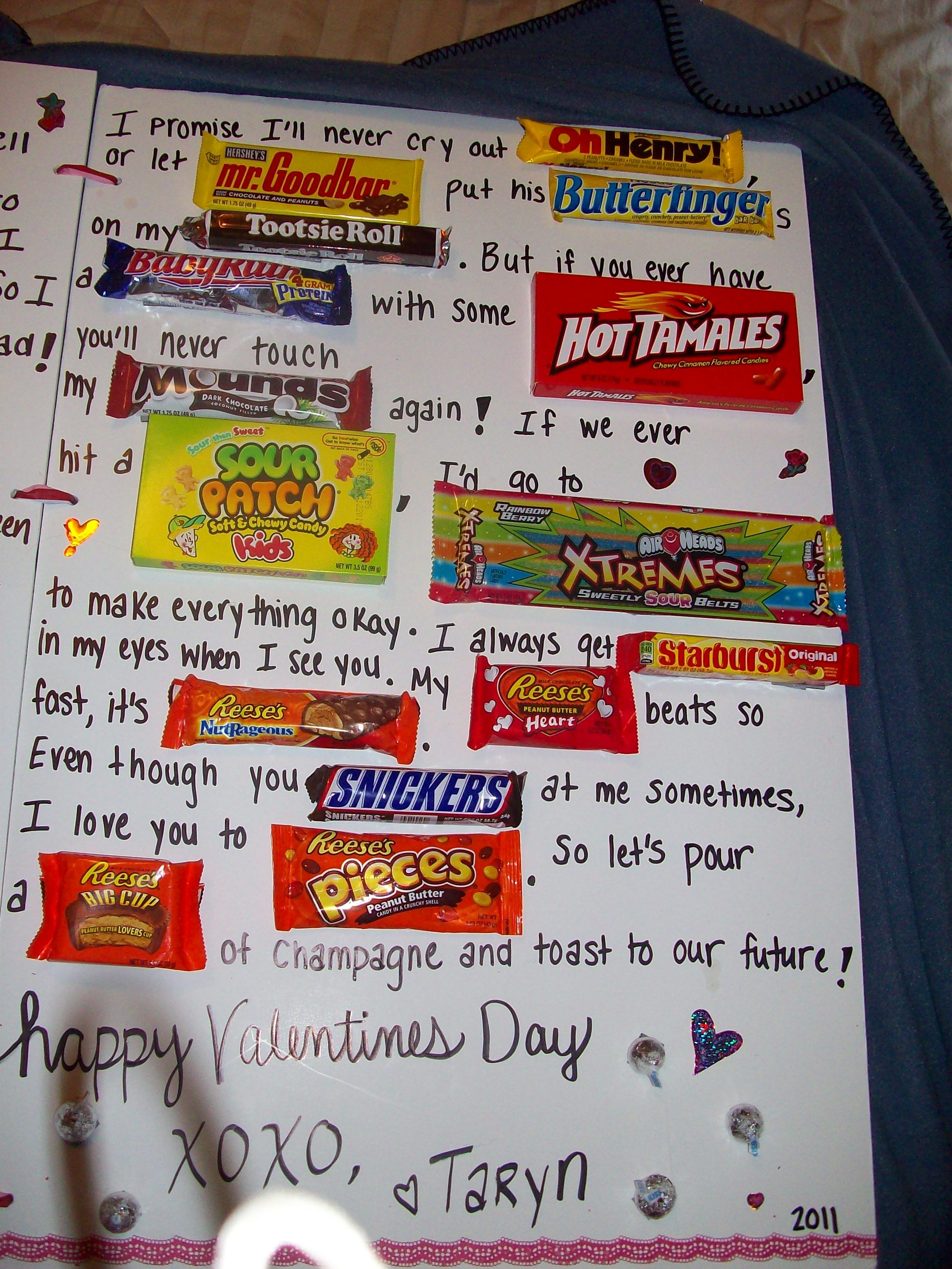 Part 2 Of Candy Card I Promise I Ll Never Let Oh Henry