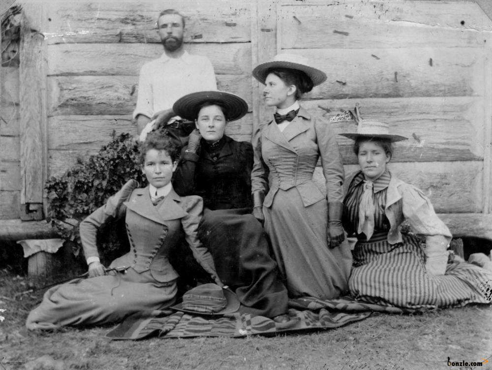 Group of women in riding habits, 1890. Photo