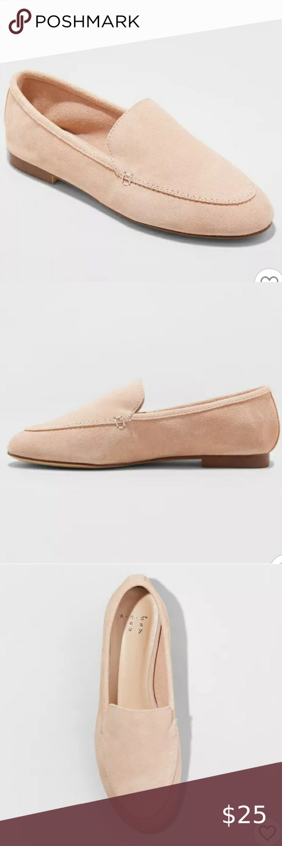 A New Day Pink Blush Mila Suede Loafers