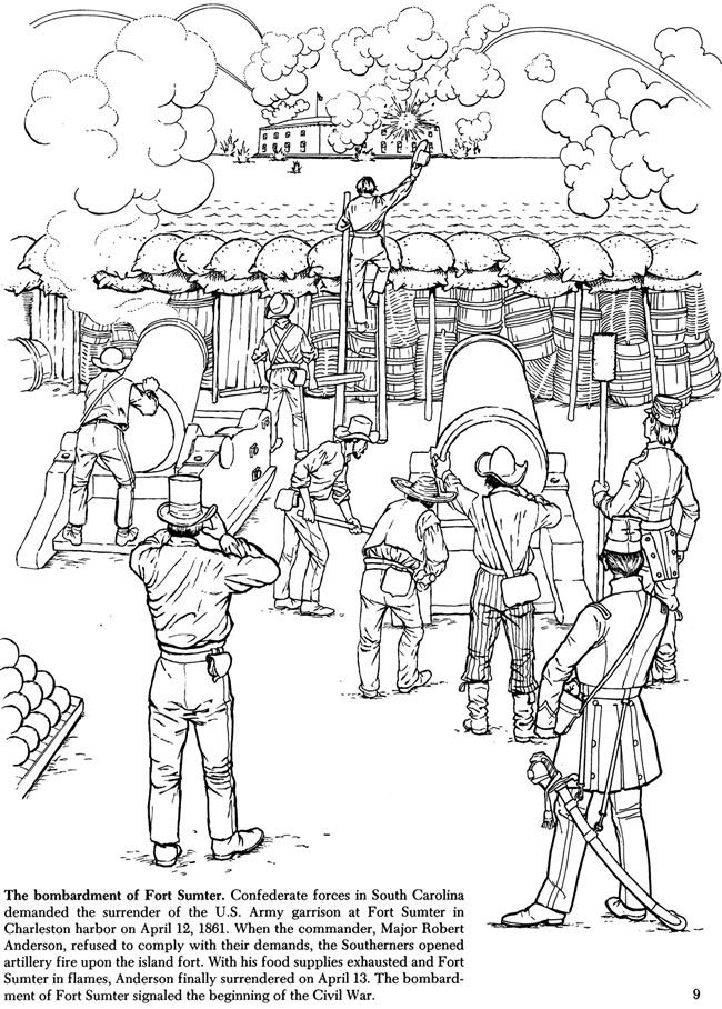 Story of the civil war coloring book coloring the past for Cold war coloring pages