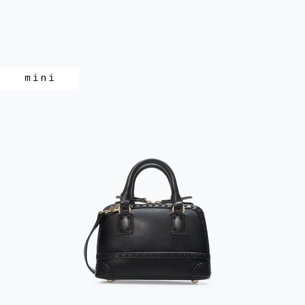 Mini City Bag With Studs Handbags Woman Shoes Bags Zara Canada