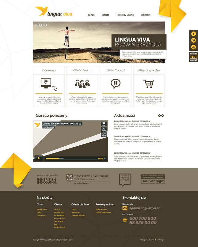 Lingua Viva - Strona internetowa repinned by www.BlickeDeeler.de