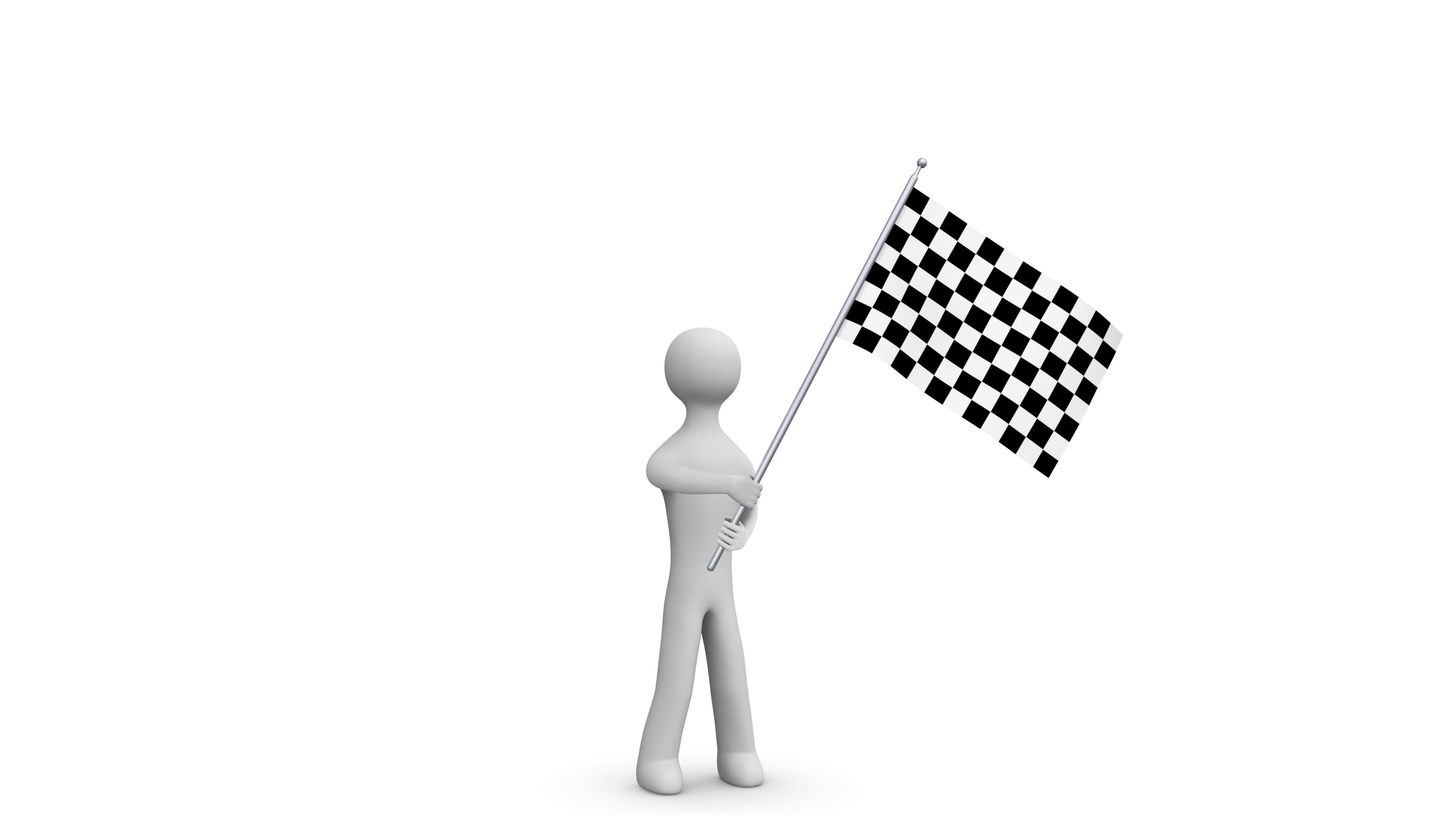 Waving Flag 3d Man Holding And Waving A Checkered Flag Loop Alpha Channel Stock Footage Holding Waving Man Waving 3d Man Alpha Channel Waves