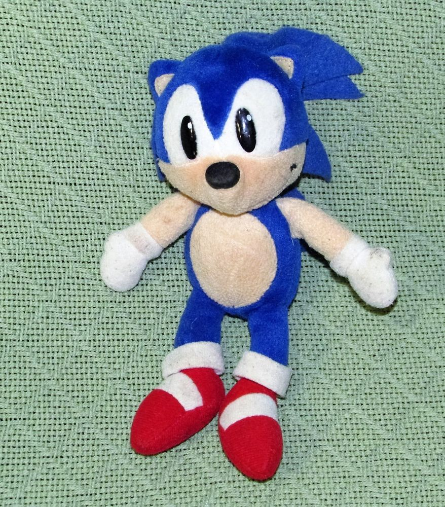 Vintage Sonic Plush 8 Stuffed Cega Game Character Toy Blue Hedgehog Rare Sega Blue Hedgehog Vintage Toys Game Character