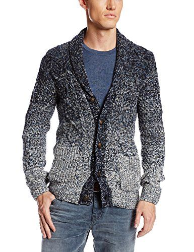 Scotch & Soda Men's Ombre Cardigan, Blue/White, Small Scotch ...