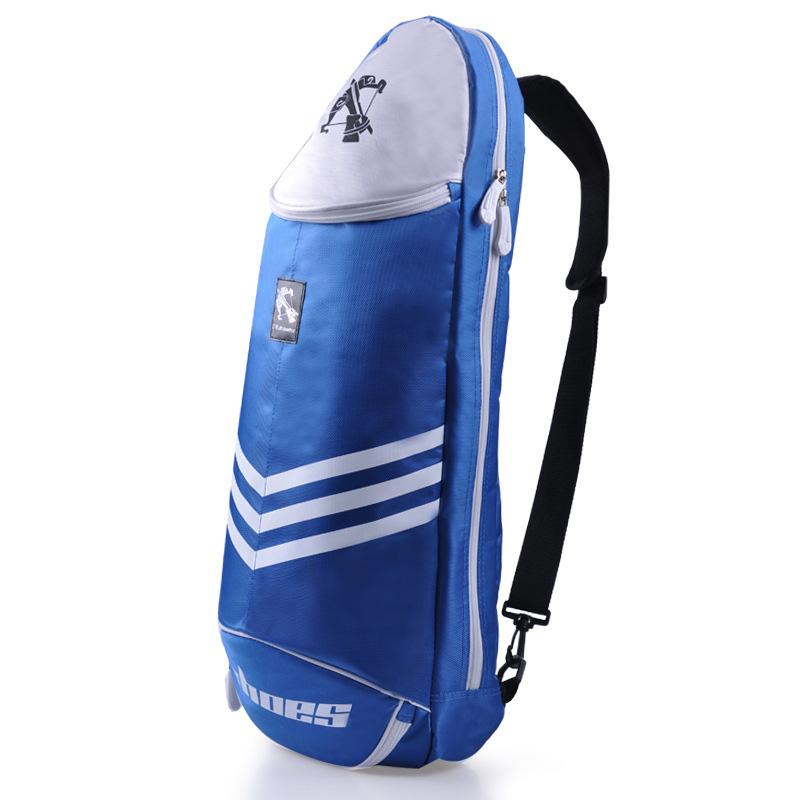 Portable Badminton Racket Bag Tennis Backpack Men Badminton Crossbody Bag Sports Single Shoulder For 6 Rackets Gym Racket Bag Sport Bag Racquet Bag Tennis Backpack