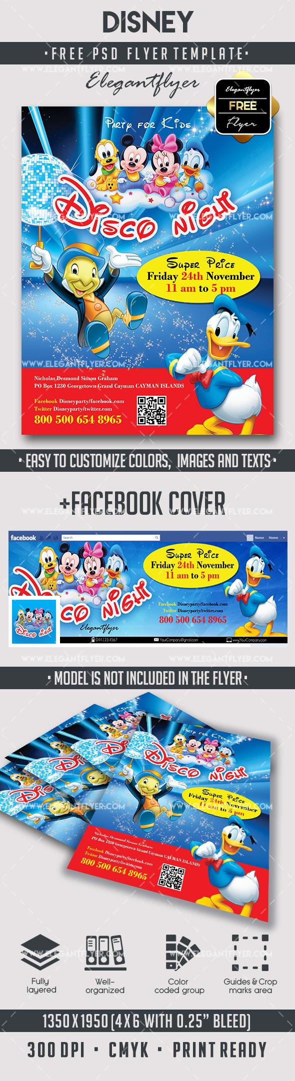 Disney Free Flyer Psd Template Facebook Cover By Elegantflyer Free Psd Flyer Free Flyer Templates Flyer