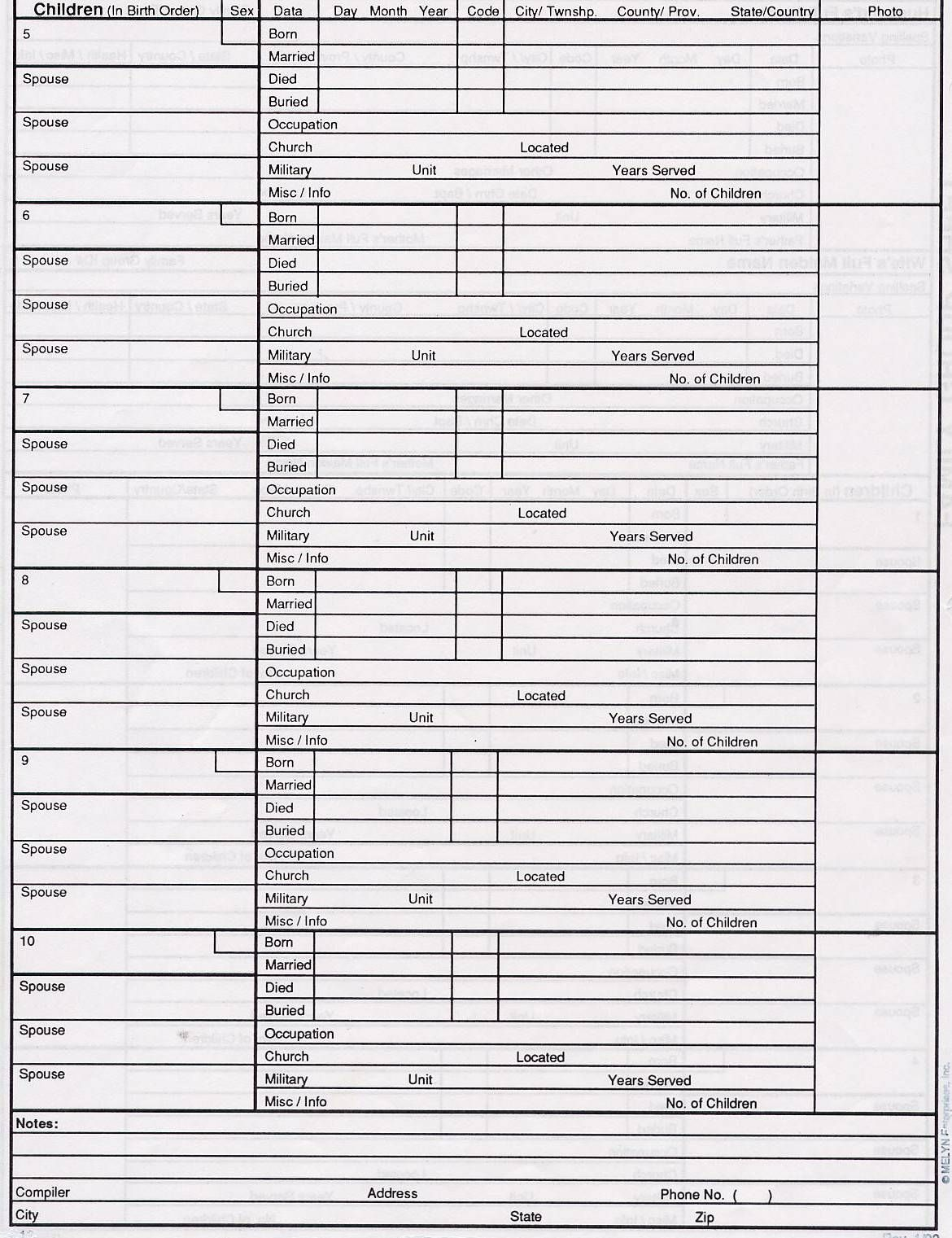 Family Group Sheet No 2.jpg 1,170×1,521 pixels | family tree ...