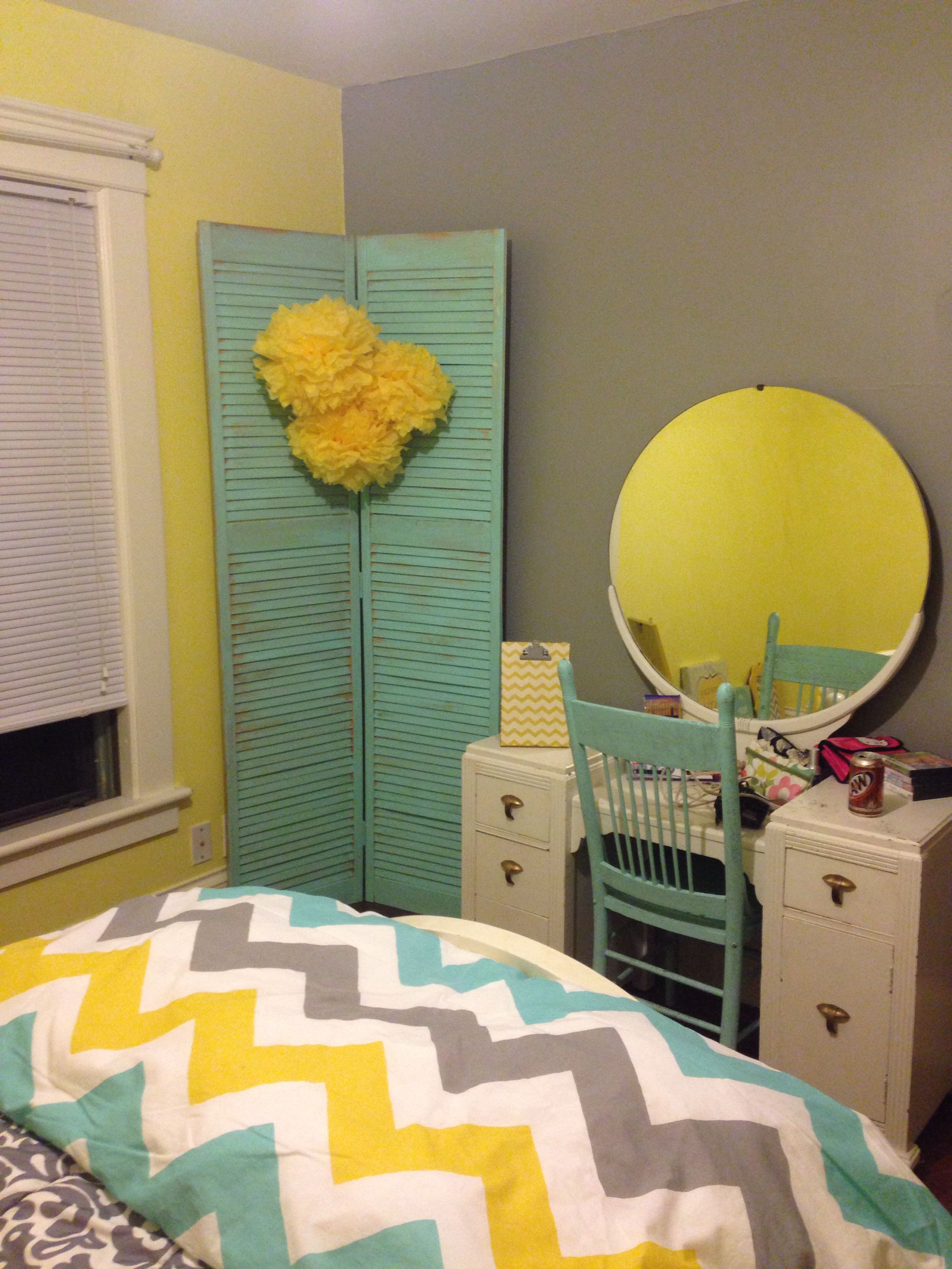 Gray And Yellow Girls Room Yellow Girls Room Turquoise Girls Rooms Children Room Girl