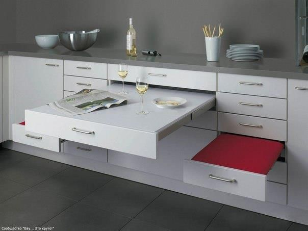 Pull out kitchen table by http://alno.de/