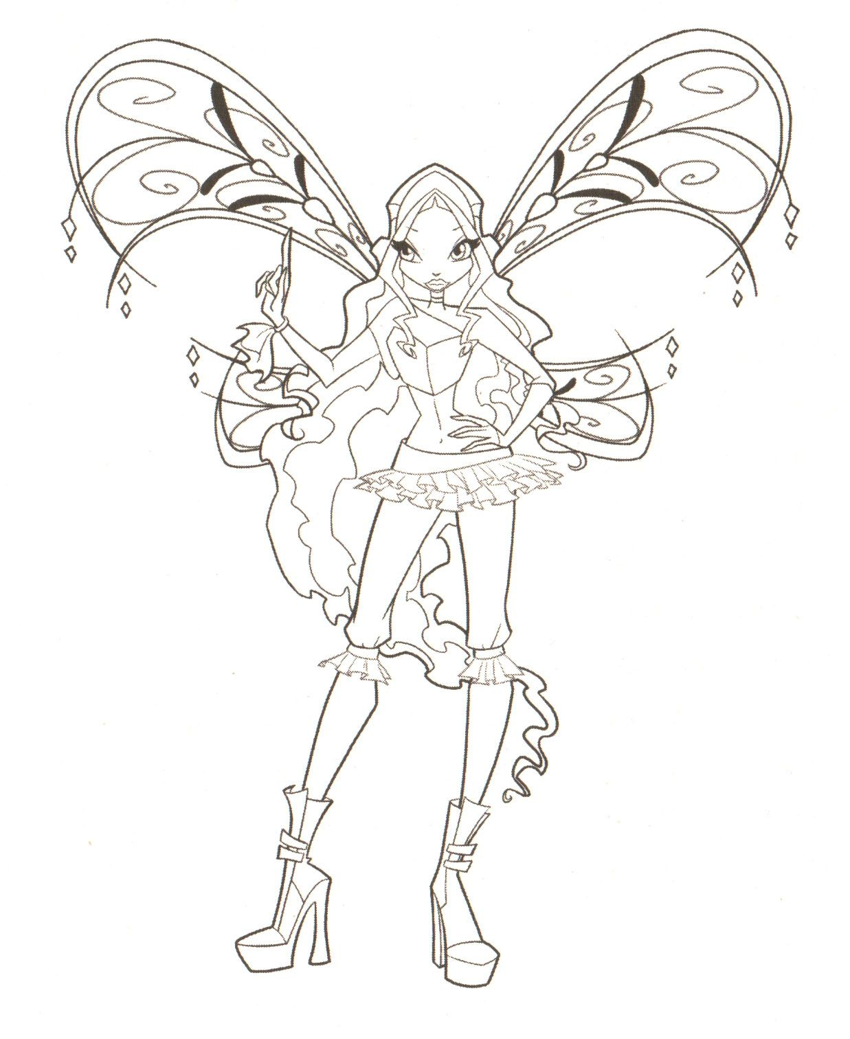 fairies to print and color | WINX COLORING PAGES « Free Coloring ...