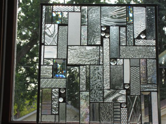 Gem Of A Gem Crystals Bevels And Special Gems Stained Glass Custom Ordered Panel Stained Glass Stained Glass Panel Stained Glass Window Panel