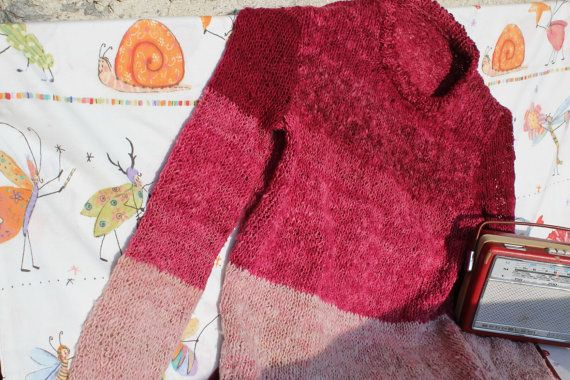 Vintage handgestr.Pullover von treasuresmakeshappy auf Etsy