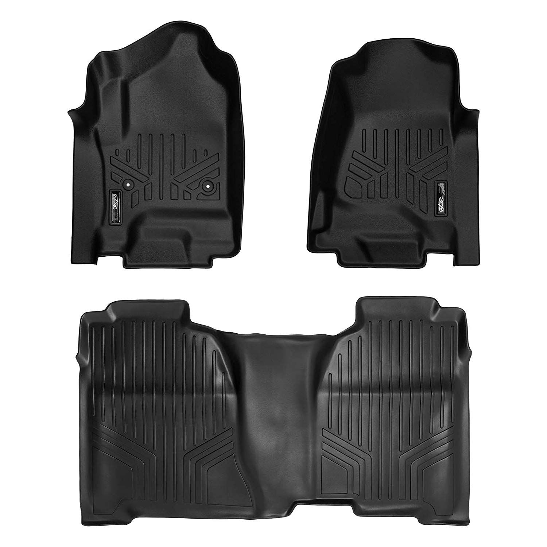 Maxliner Floor Mats 2 Row Liner Set Black For Crew Cab 2014 2018