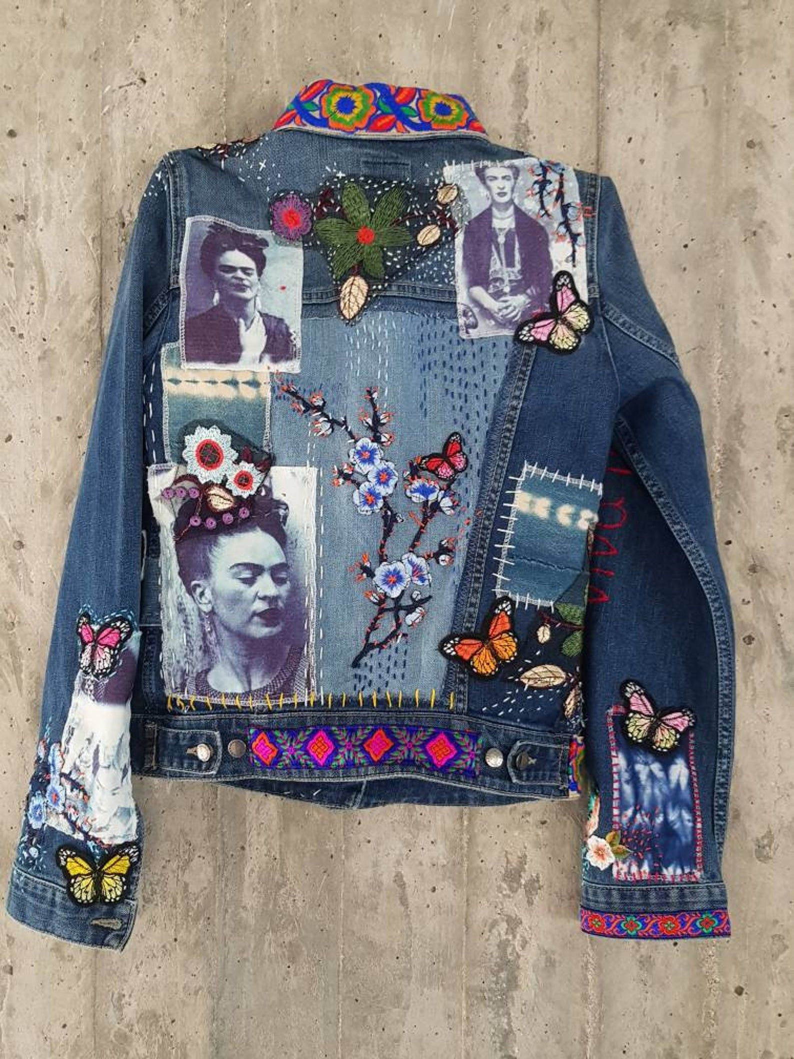 Damaged Vintage Levi's Denim Jacket/Jean Jacket from 80's/Grunge