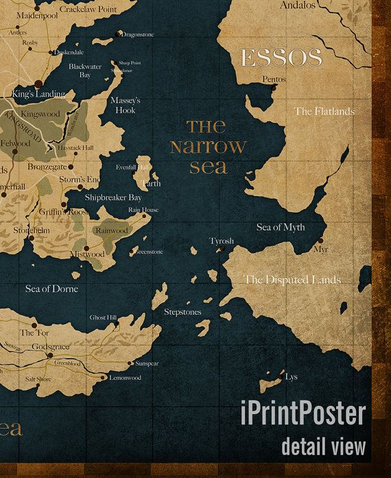 Game of Thrones Westeros Westeros map Game of by iPrintPoster