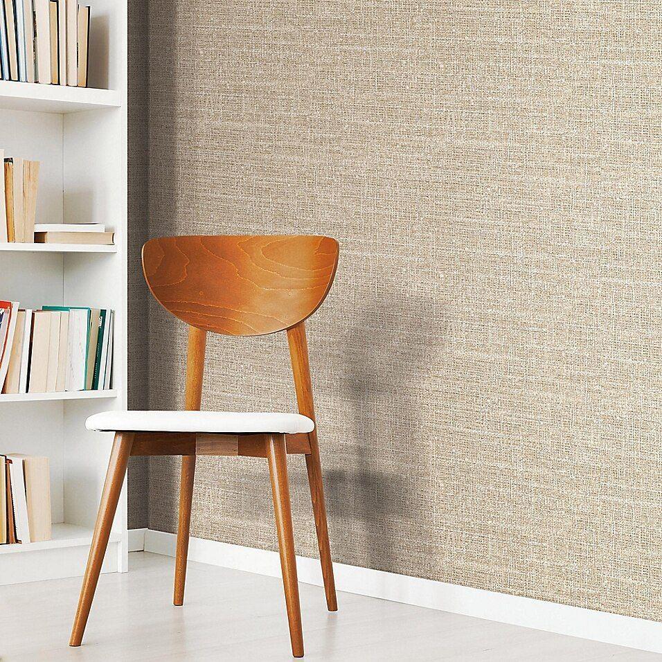 Roommates Peel Stick Tweed Wallpaper In Brown Peel And Stick Wallpaper Peelable Wallpaper Wallpaper Roll