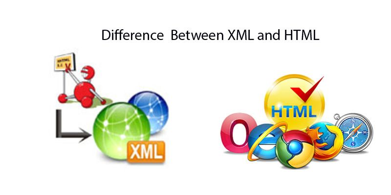 difference between xml and html saga biz solutions web design