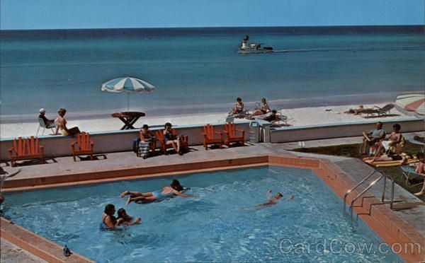 Poolside At The Sun U0026 Sand Motel, 1960s, Panama City Beach, Florida.... We  Went Here Every Summer As A Child!