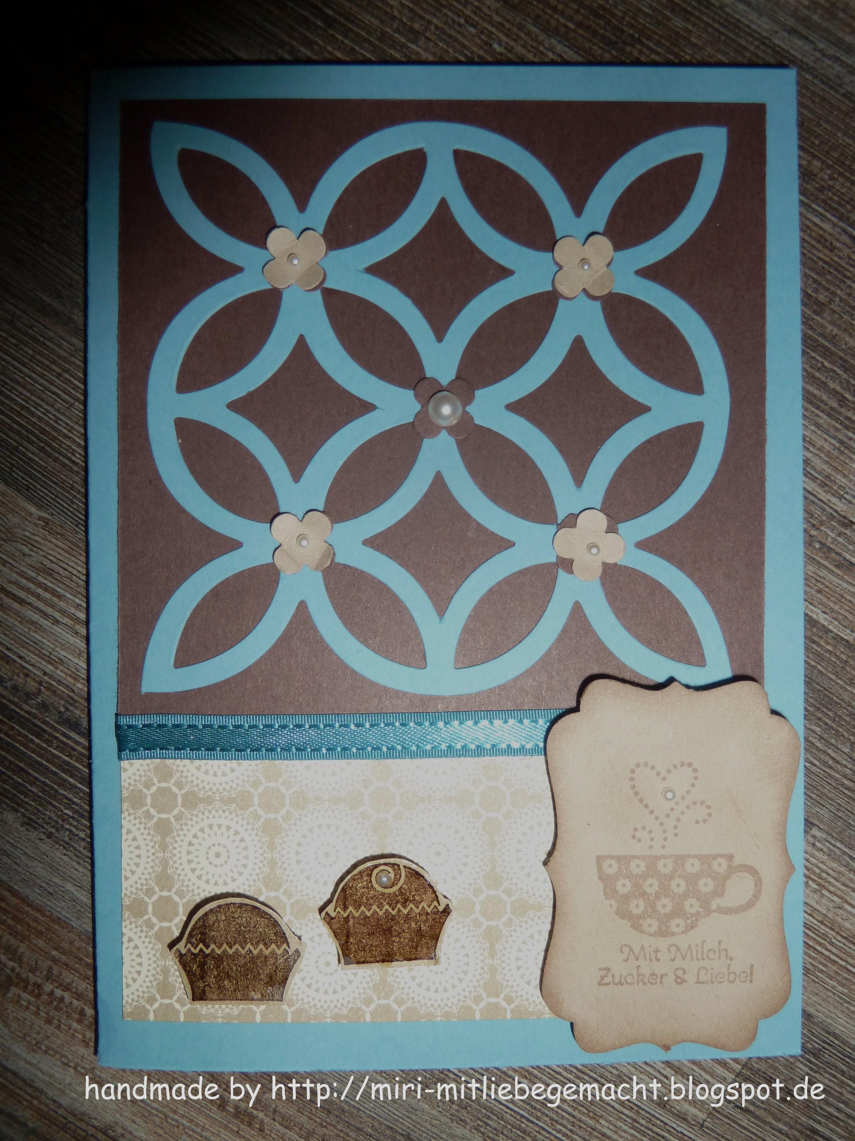 Einladung zum Kaffee-Trinken. . . Stampin Up und Elegantes Gitter mit dekorativem Etikett