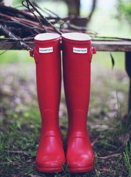b6a083dd9e Red hunter boots.