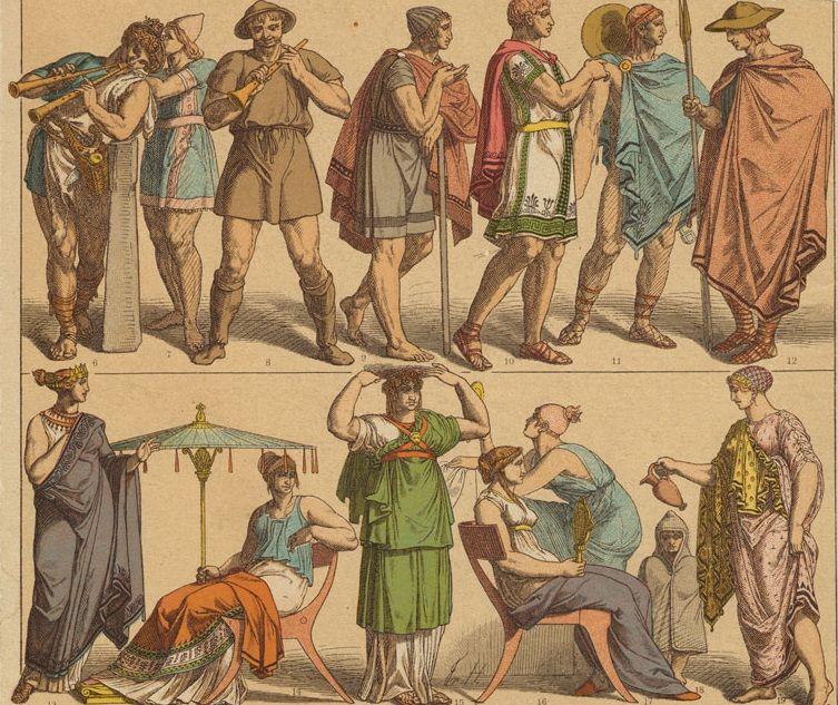 Grecia Clasica ropa hombre