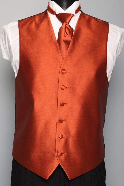 burnt orange tux | Wedding- orange, purple and Gray | Pinterest ...