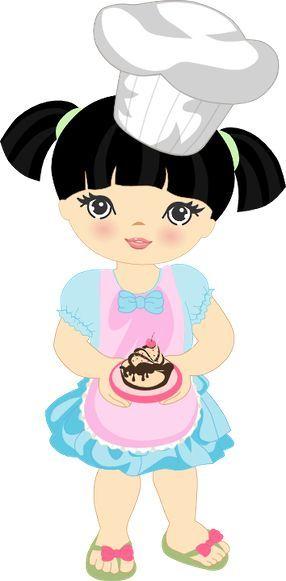 Cocineritas Cozinheira Desenho Meninas Desenho De Bonequinhas