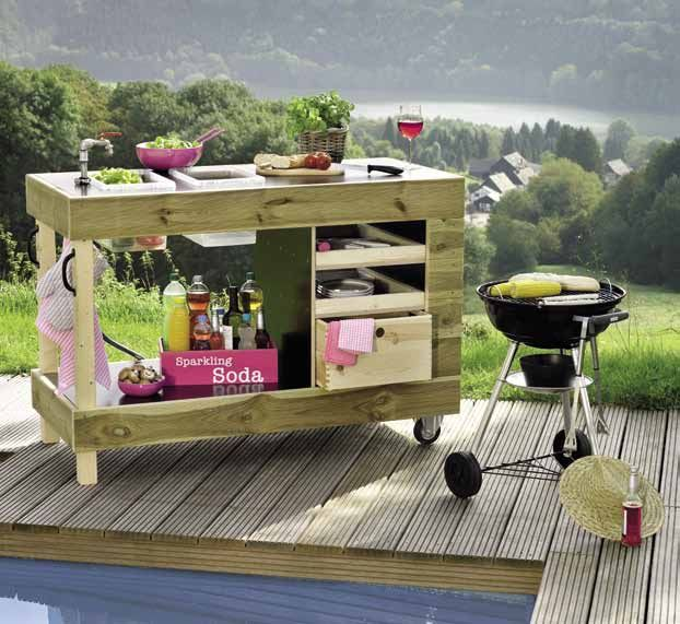 gartenk che chefkoch outdoor kitchen pinterest. Black Bedroom Furniture Sets. Home Design Ideas