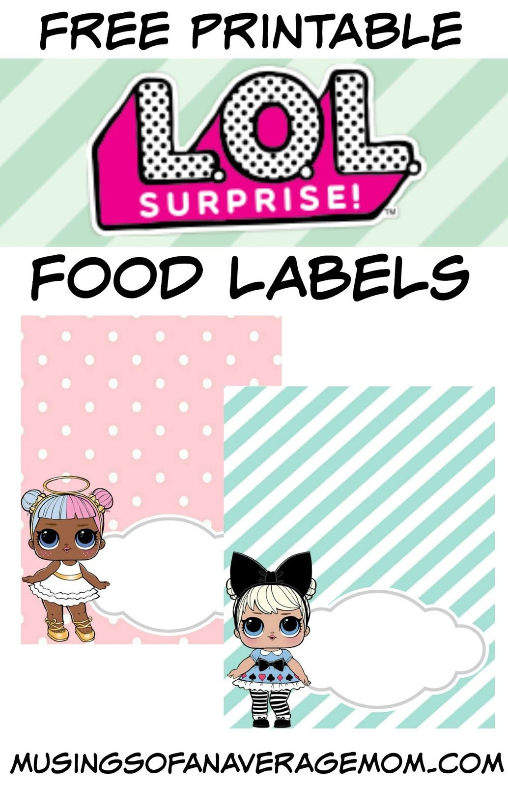 L O L Surprise Food Labels