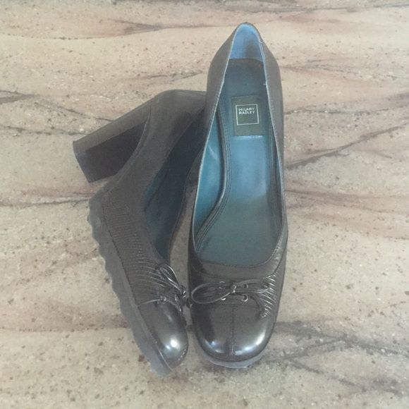 """Leather Hilary Radley heels 3.5"""" black, leather heels with cute detailing. I might have worn these once, but I don't think I did. Hilary Radley Shoes Heels"""