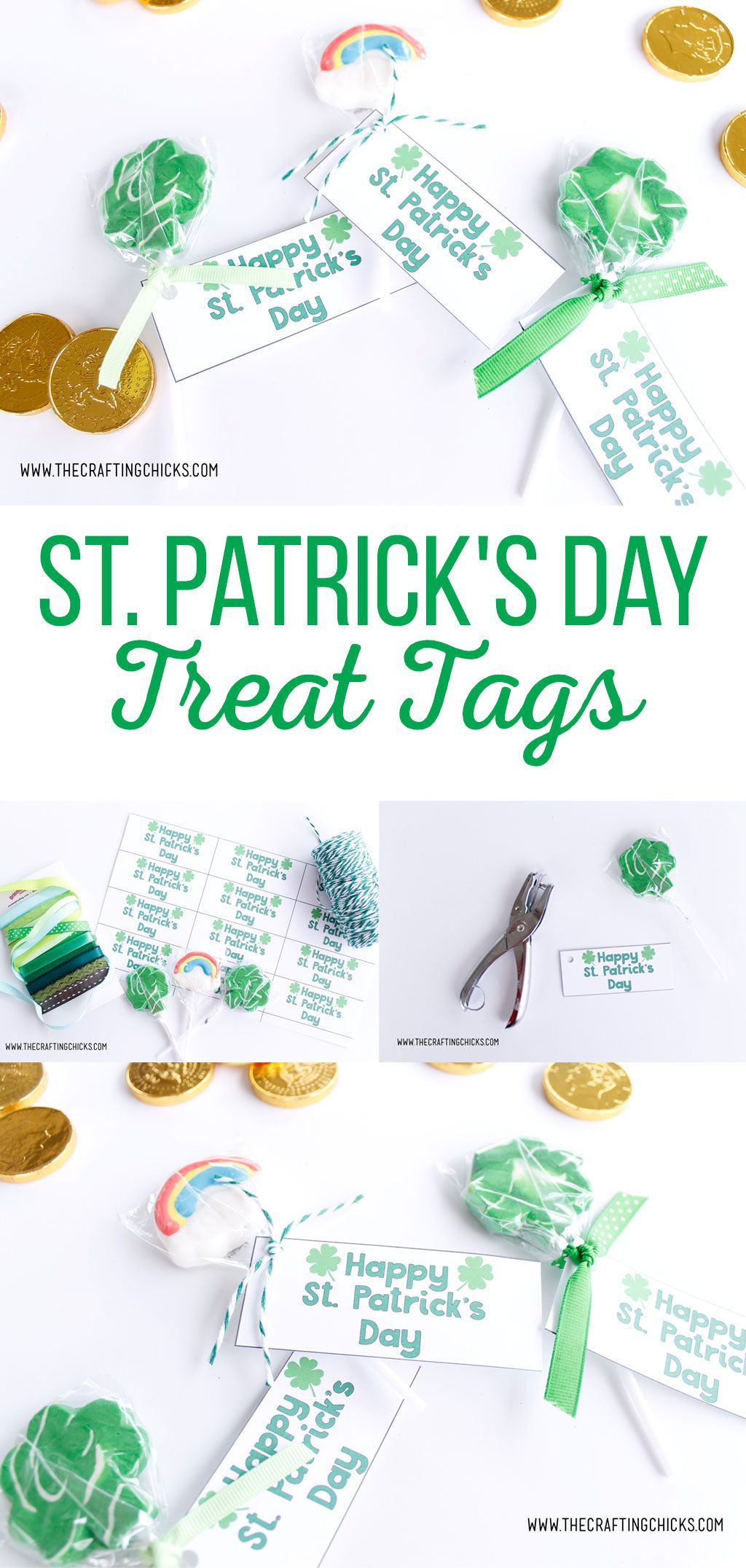 St. Patrick's Day Treat Tags | Are you looking for a way to show your friends and family you're lucky to have them this St. Patrick's Day? These adorable St. Patrick's Day Treat Tags are the perfect way. Print them out and add them to any gift.