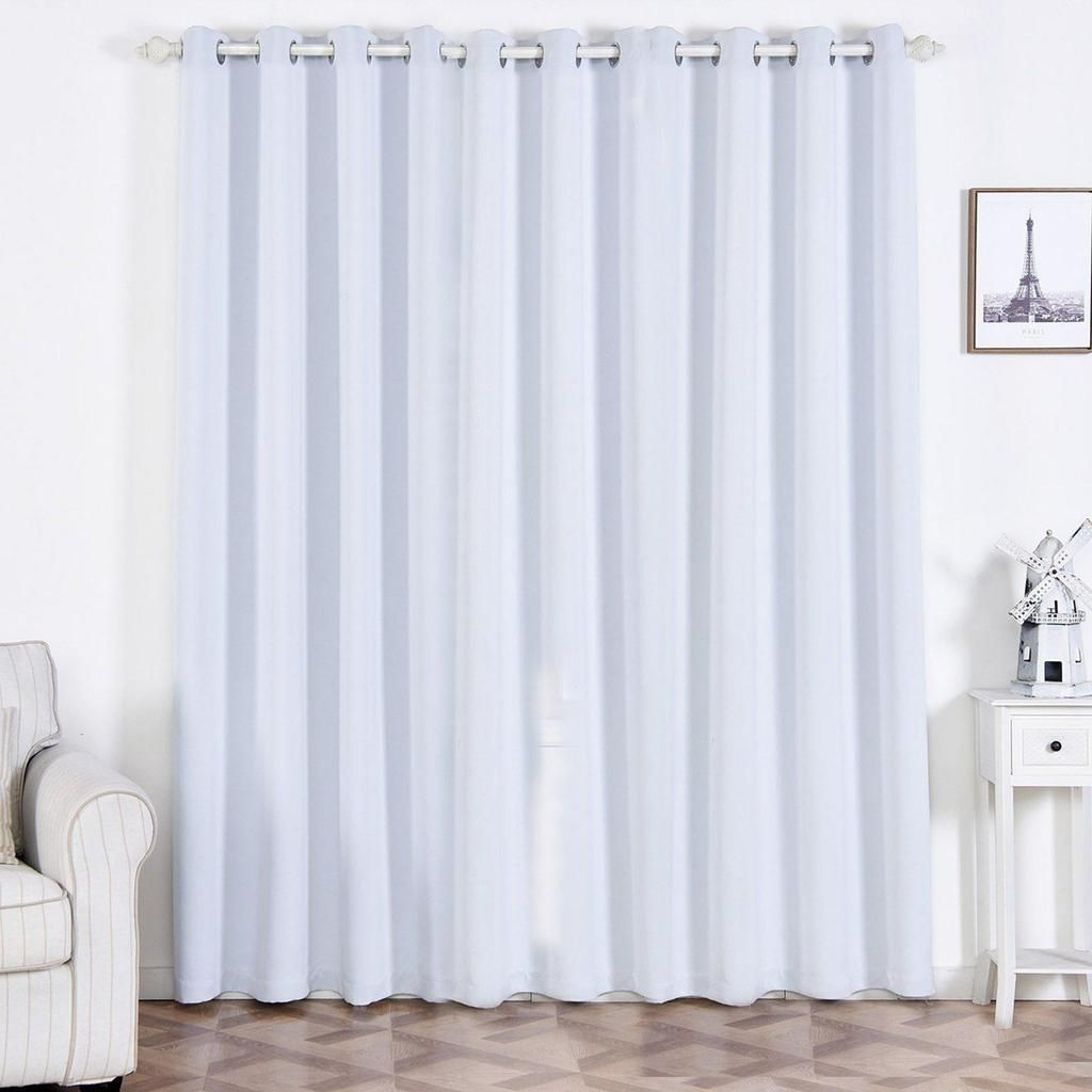 White Soundproof Curtains 2 Packs 52 X 96 Inch Grommet