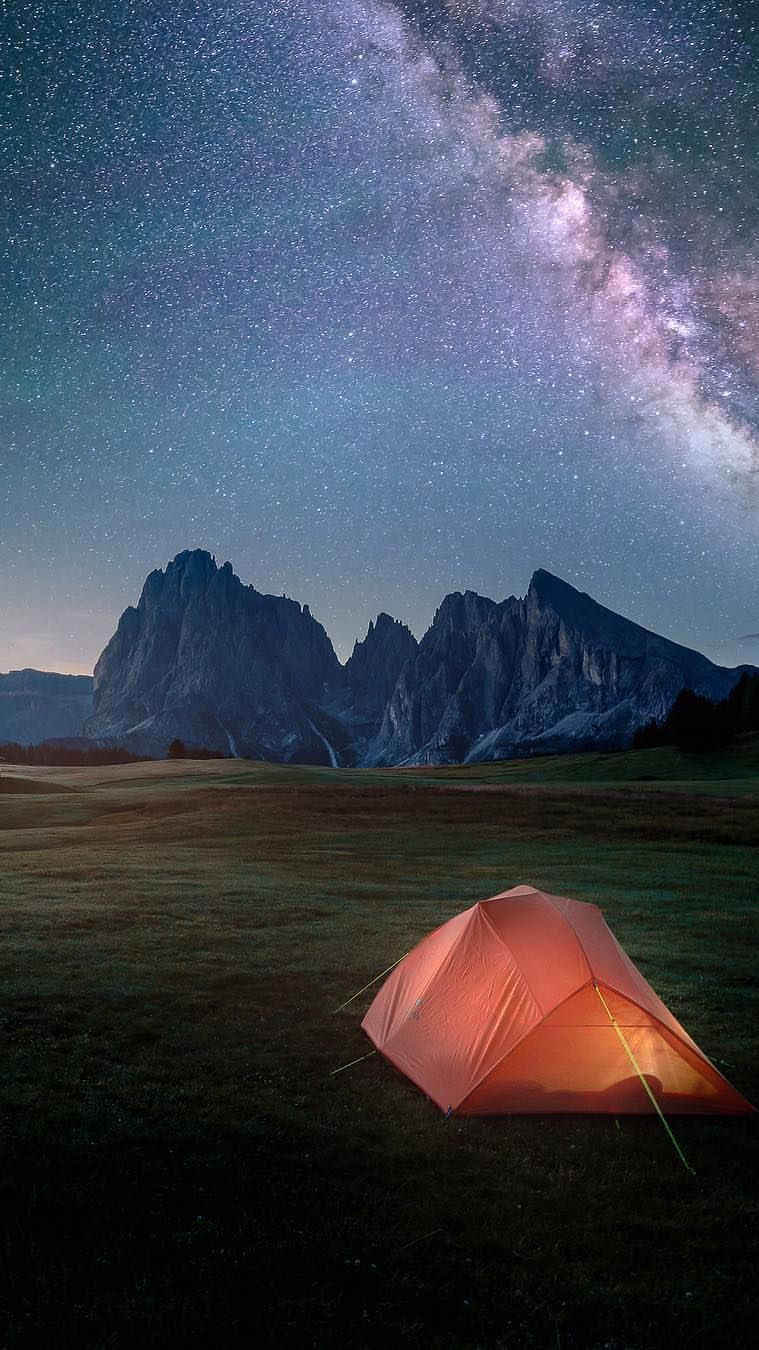 Night Camping In Nature Iphone Wallpaper Fotografi Alam Fotografi Gambar