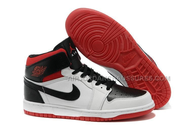 To Buy Air Jordan 1 I Mens Shoes Online Sale Black White Red