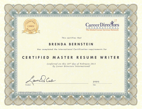 last week i received my designation as a certified master resume