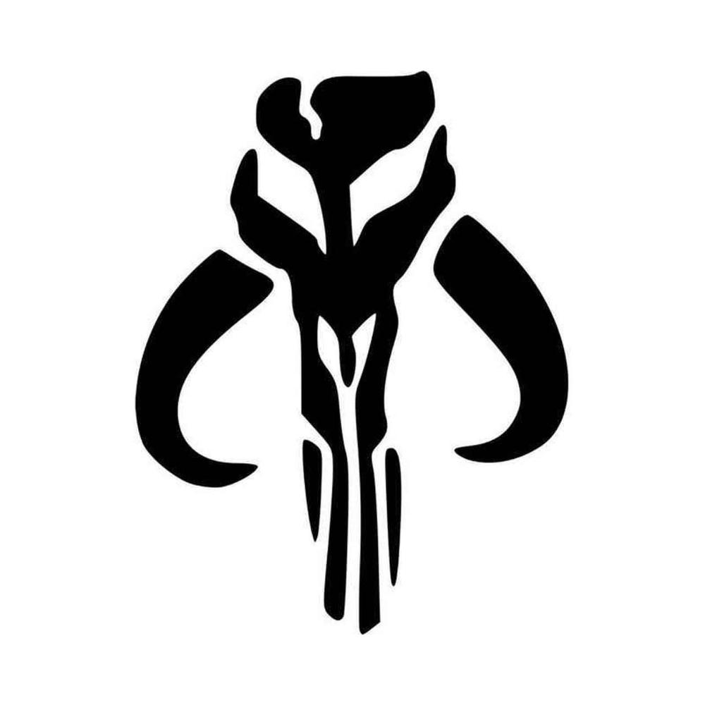 Irockdecals Com Op Voorraad Mandalorian Symbol Vinyl Decals Star Wars Stencil