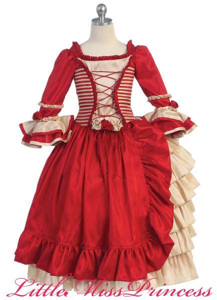 Victorian Style Dresses for Girls | Renaissance Ivory & Purple ...