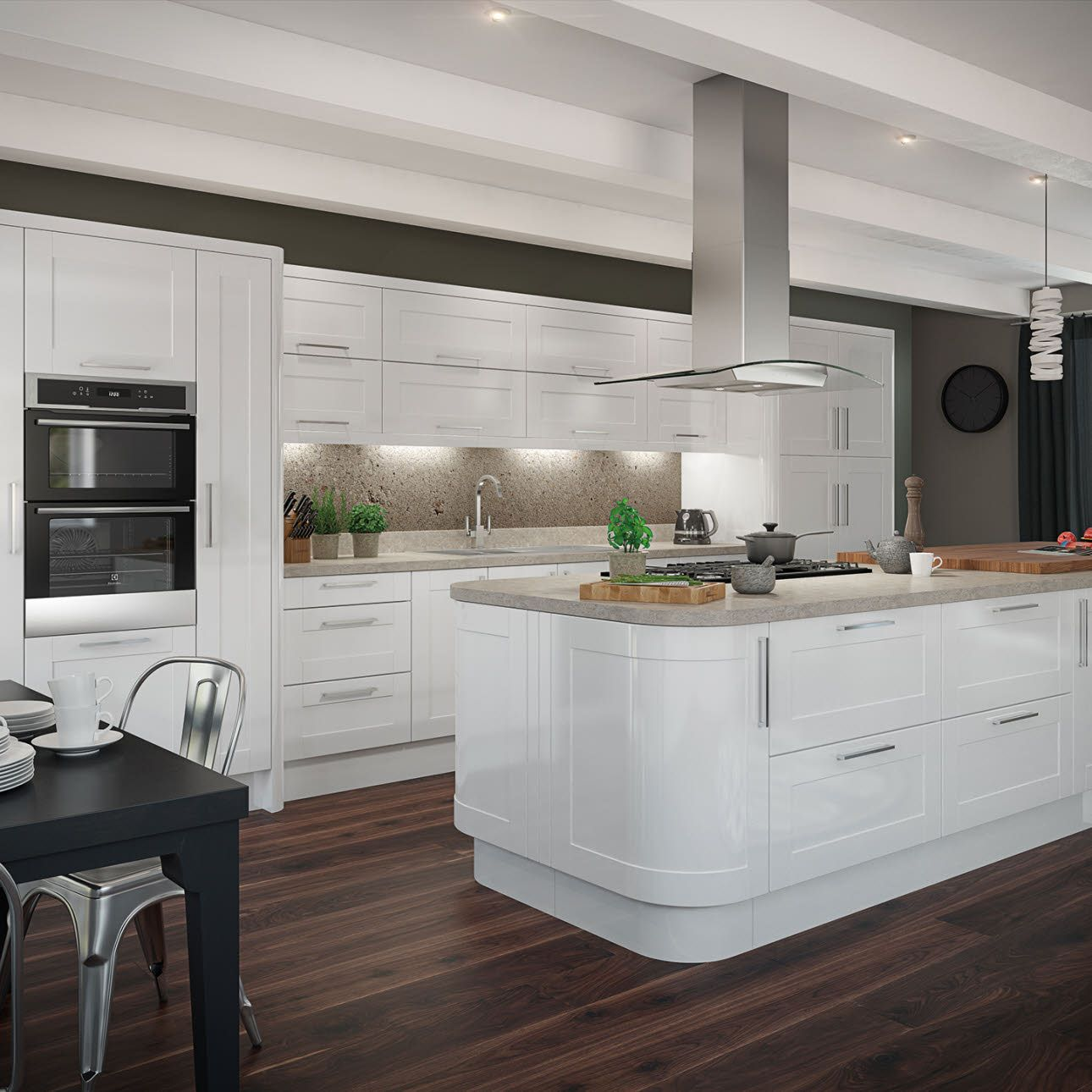Leighton Gloss White | Wnętrza | Pinterest | Kitchens, Traditional ...