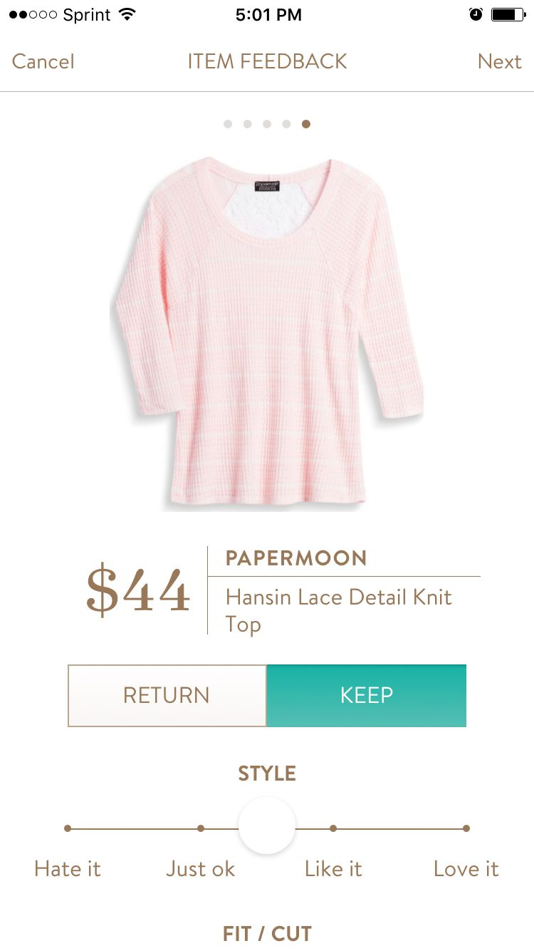 PAPERMOON Hansin Lace Detail Knit Top - Stitch Fix 2016. If you would like to try Stitch Fix, follow my link. https://www.stitchfix.com/referral/5198264