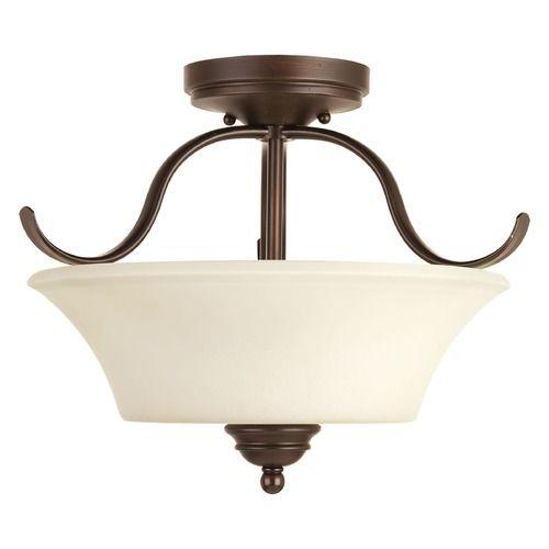 Progress lighting applause antique bronze semi flushmount light p3507 20 destination lighting
