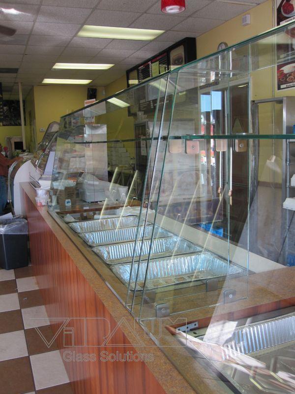 Restaurant Custom Glass Sneeze Guard Custom Glass Frameless Shower Doors Sneeze Guard