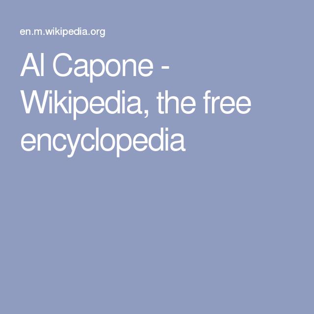 Al Capone - Wikipedia, the free encyclopedia