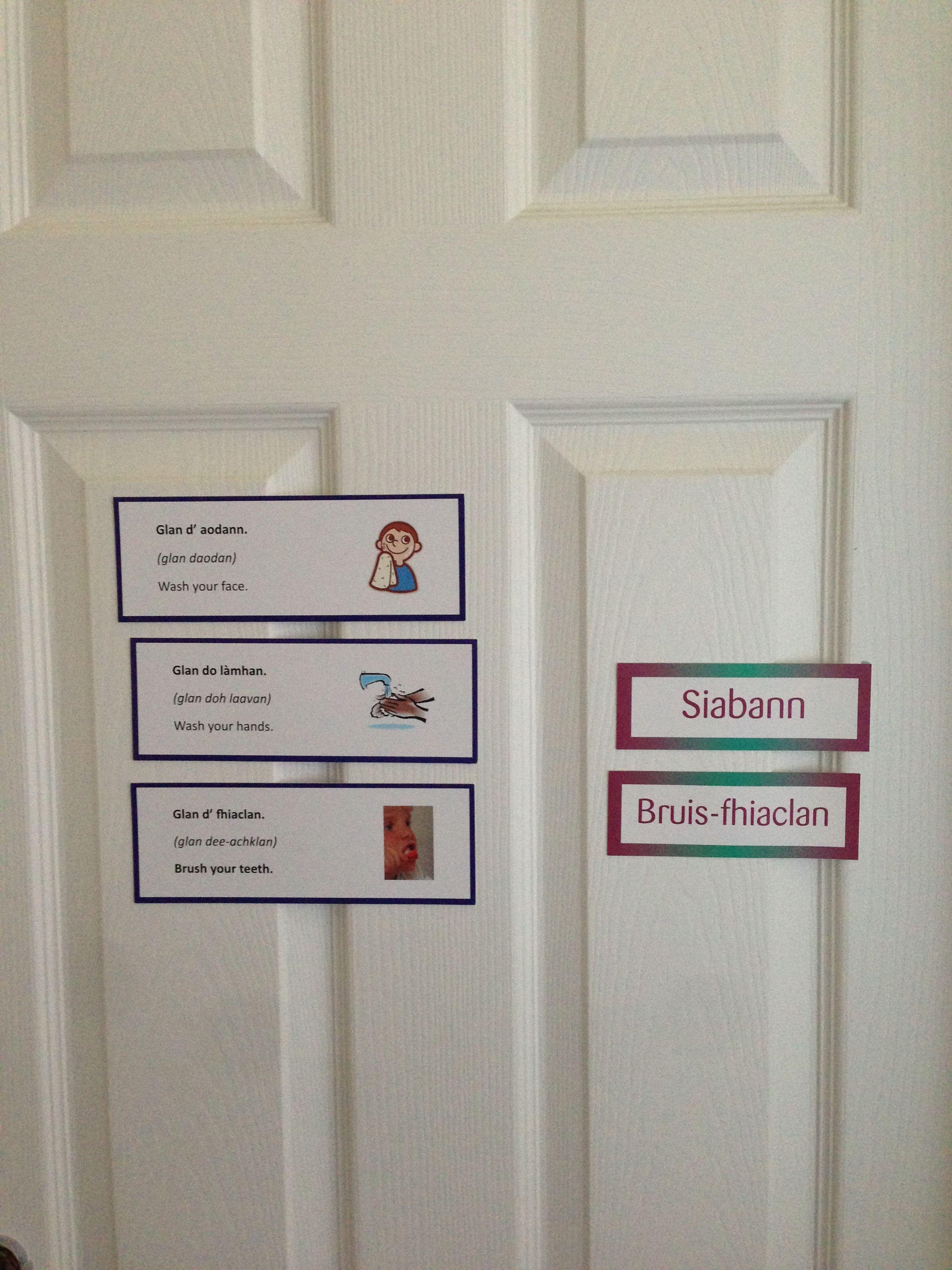 My Bathroom Door Scottish Gaelic Gaelic Wash Your Face