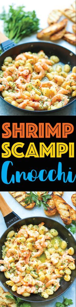 Shrimp Scampi Gnocchi #shrimpscampi Shrimp Scampi Gnocchi - Damn Delicious #shrimpscampi