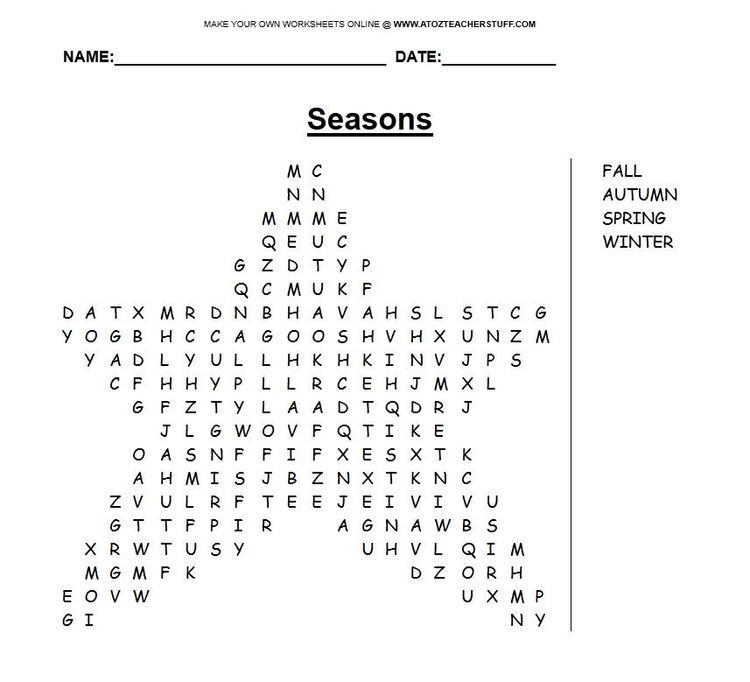 Make Your Own Word Search At A To Z Teacher Stuff Spelling Words