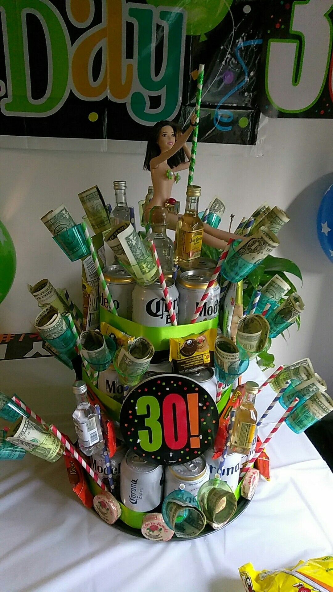 30th birthday beer can cake i made my hubby
