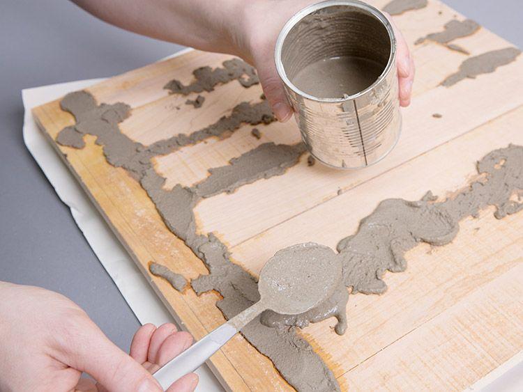 diy anleitung tischplatte im industrie look aus palettenholz bauen via diy. Black Bedroom Furniture Sets. Home Design Ideas