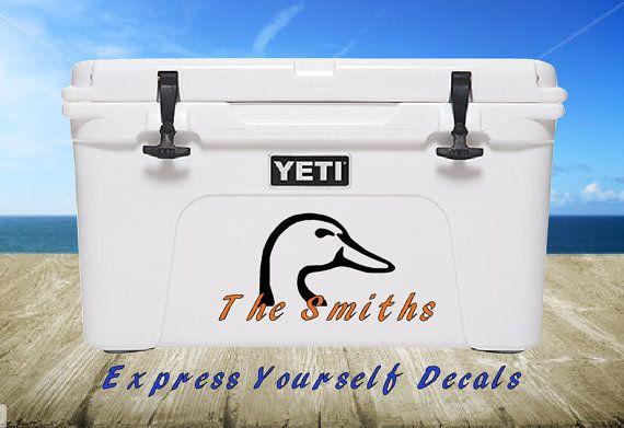 Duck Head Vinyl Yeti Cooler Decal Sticker Personalized Custom Decals Yeti Cooler Personalized Decals