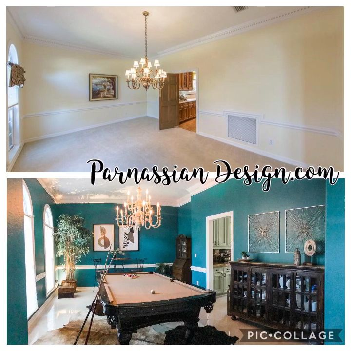 #redesign #homedecor #interiordesign #paintcolors #pooltable #updateideas #bluewalls #greenwalls #pooltable #houstonhomebuilders #houstonrealestate #interiordesign #inspiring #inspirational #housedesign #boldcolor #boldandbeautiful #bold #uniquedecor #uniquedesignideas #uniquedesign